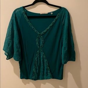 Anthropologie green top